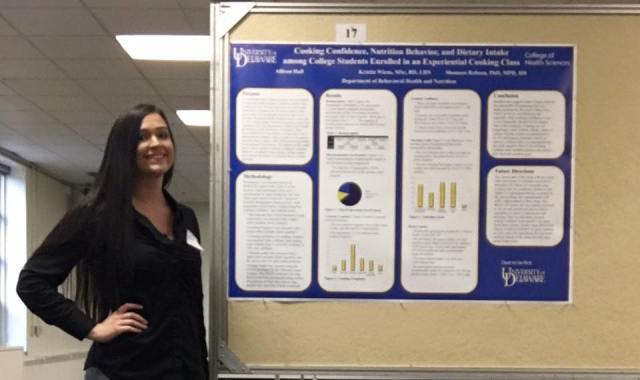 "Allison Hall ""Cooking Confidence, Nutrition Behavior, and Dietary Intake among College Students enrolled in an experiential cooking class"""